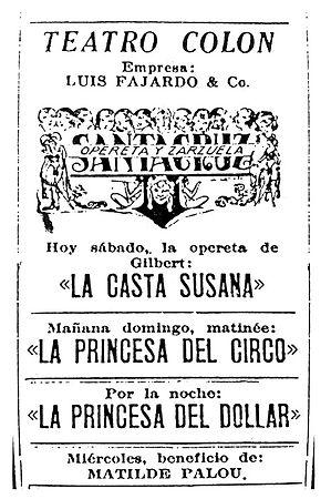 teatro en Colombia, opereta, zarzuela, museartes