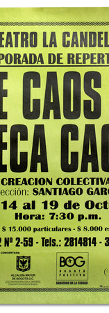 Teatro La Candelaria. Temporada de repertorio (Centro de Documentación del teatro).