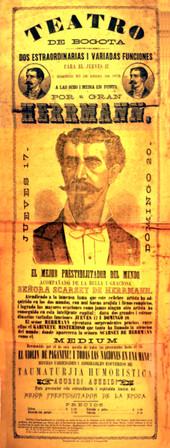 1878. Función del mago Herrmann. (Archivo Guillermo Hernández de Alba. Biblioteca Luis-Ángel Arango).