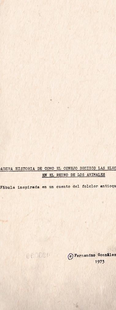Copias mecanográficas de las primeras páginas de la obra. Colección ICC – Biblioteca José Manuel Rivas Sacconi.