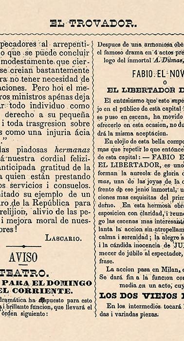"""""""El Trovador"""" (Bogotá), núm. 7, 23 de junio de 1850, p. 56."""