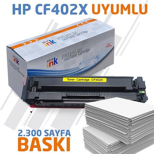 Starink CF402X ; Muadil Chipli Sarı Toner