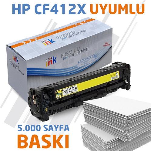 Starink CF412X ; Muadil Chipli Sarı Toner
