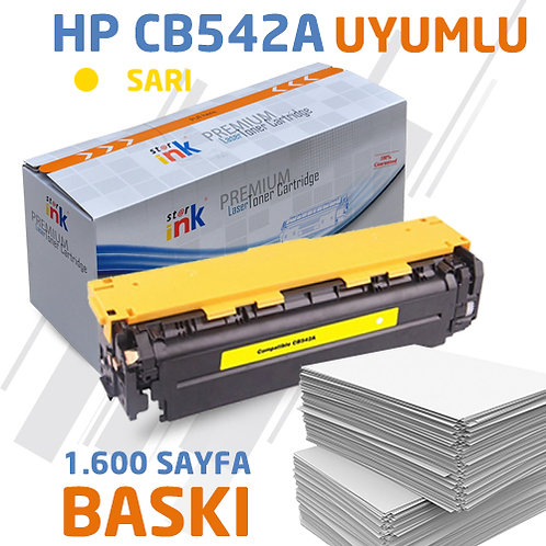 Starink CB542A ; Muadil Chipli Sarı Toner
