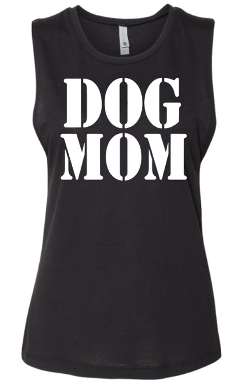 Southern Paws Dog Mom Black Muscle Tee