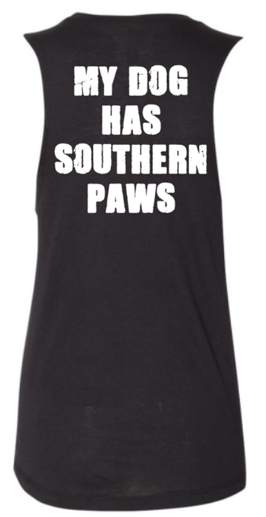 Southern Paws My Dog Has Southern Paws Muscle Tee