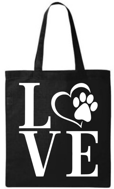 Southern Paws Love  Small Tote