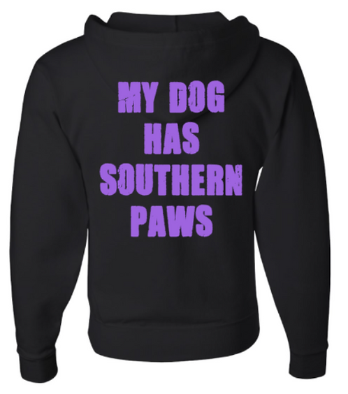 Southern Paws Zip Up My Dog Has Southern Paws Hoodie