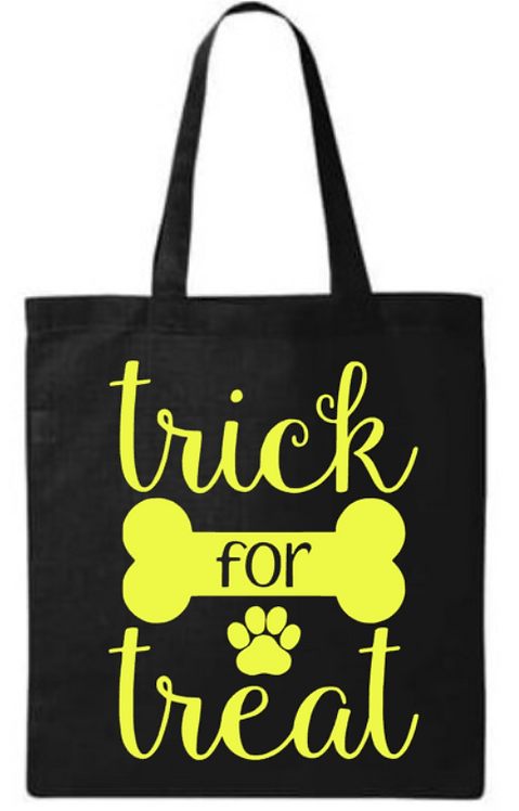 Halloween Trick For Treat Southern Paws Tote Bag