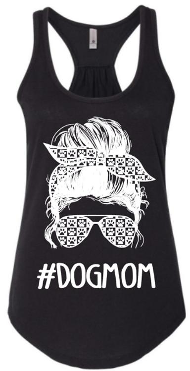 Dog Mom Messy Bun Tank Top