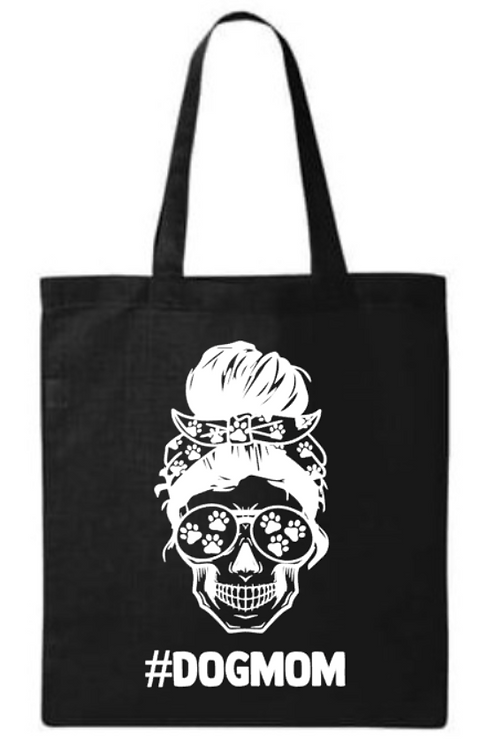 Southern Paws Skull Dog Mom Small Tote