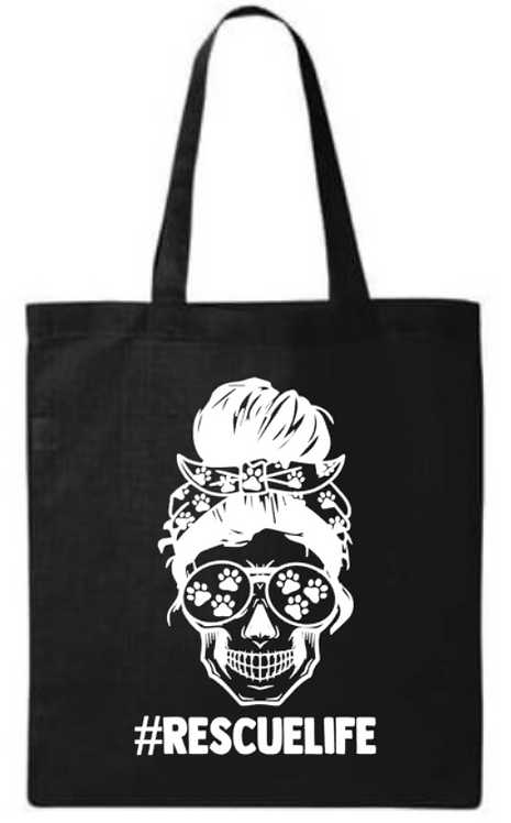 Southern Paws Skull Rescue Life Small Tote