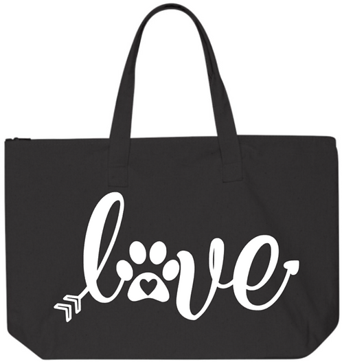 Southern Paws LOVE 20in Zipper Tote