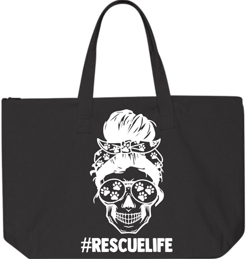 Southern Paws Skull Rescue Life Jumbo Tote