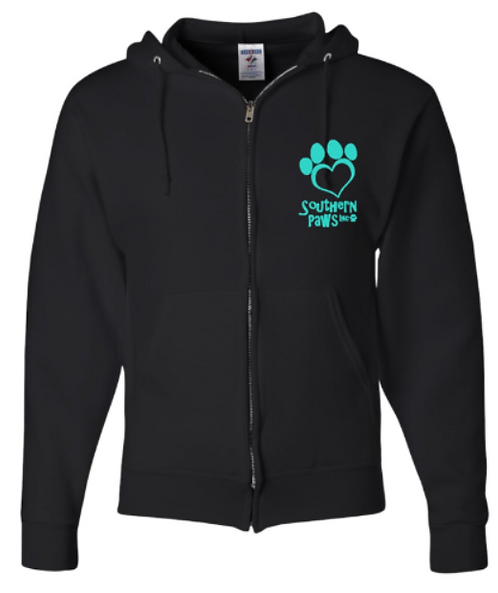 Southern Paws Zip Up The Logo Hoodie