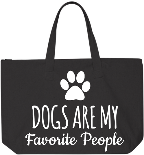 Southern Paws Dogs Are My Favorite People 20in Zipper Tote
