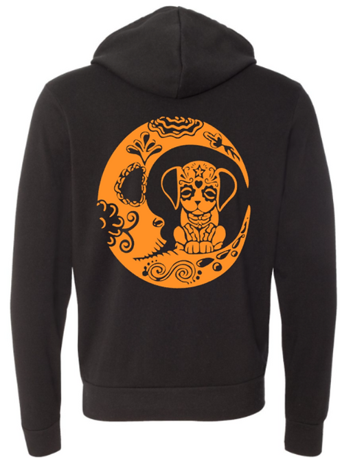 Halloween Southern Paws Ultra Soft Light Weight Dog Moon Hoodie