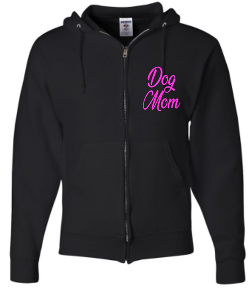 Southern Paws Zip Up Dog Mom Hoodie