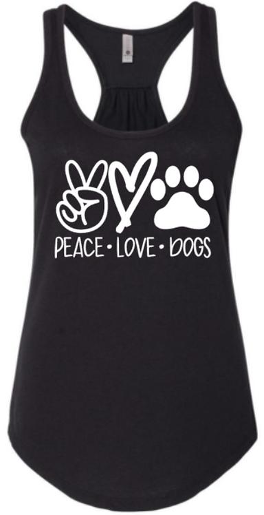 Peace Love & Dogs Tank Top