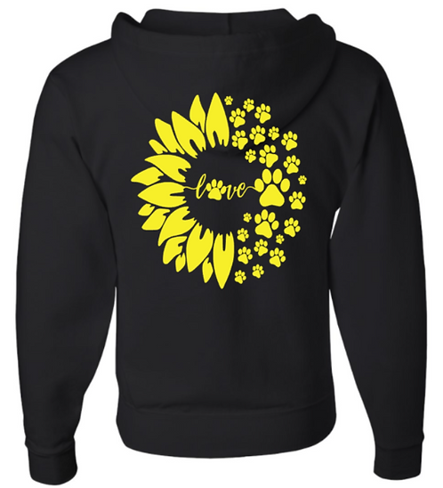 Southern Paws Zip Up Sunflower Hoodie