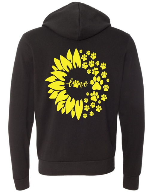 Southern Paws Ultra Soft Light Weight Sunflower Hoodie