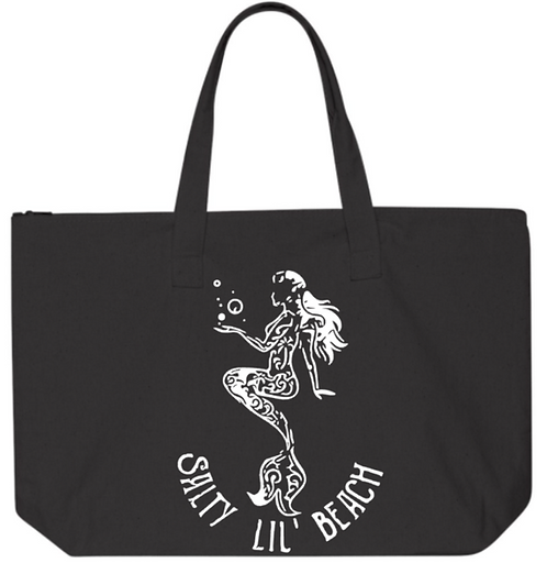 Southern Paws Salty Lil Beach 20in Zipper Tote