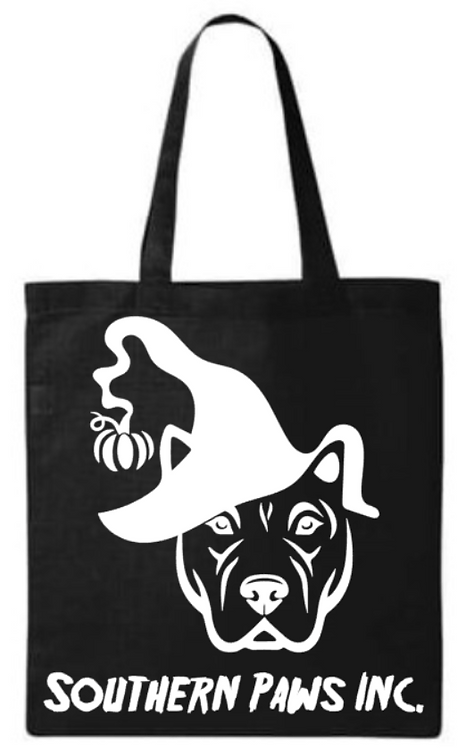 Halloween Southern Paws Pittie Small Tote Bag