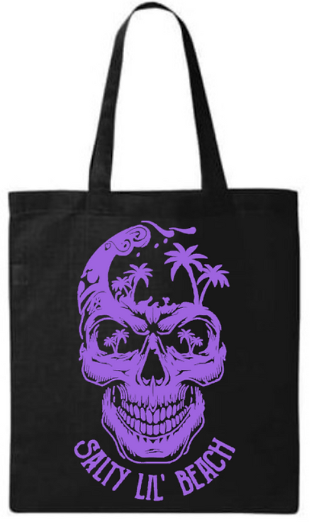Southern Paws Salty Lil Beach Skull Small Tote