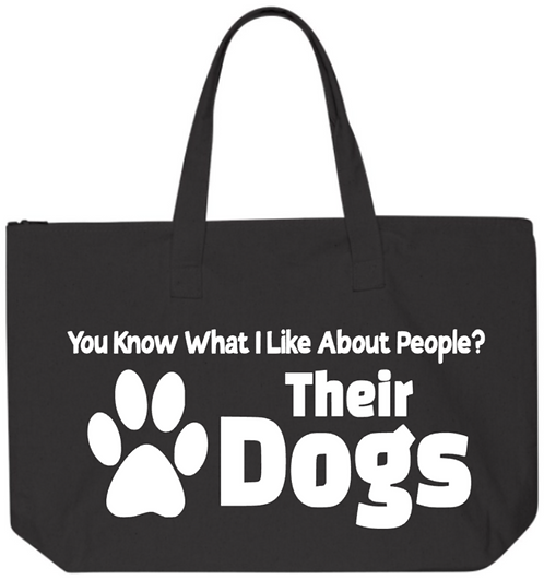 Southern Paws You Know What I Like About People  20in Zipper Tote