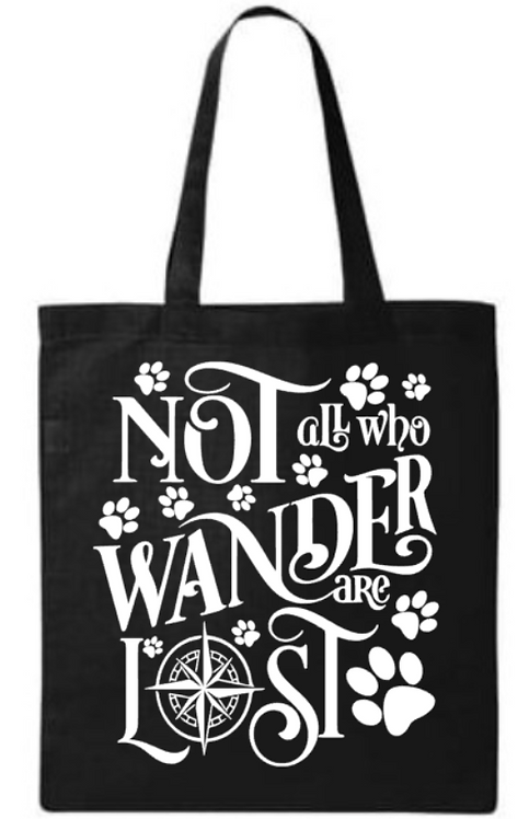 Southern Paws Not All Who Wonder Are Lost Small Tote