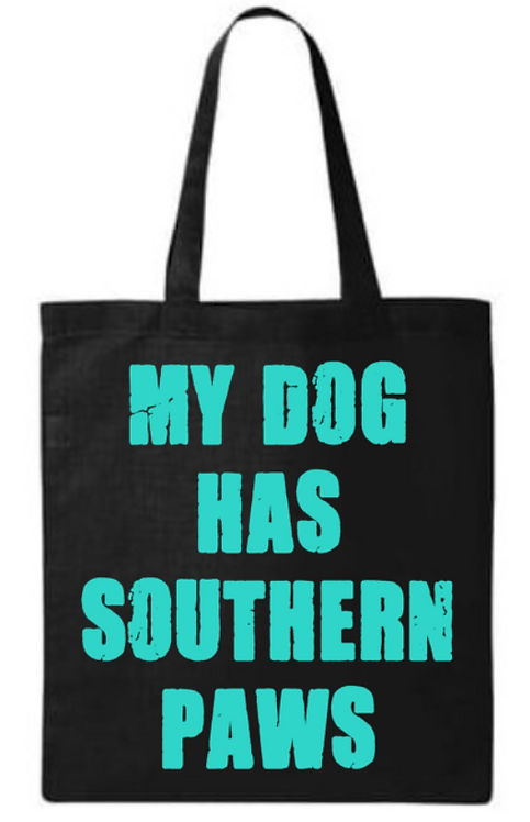 Southern Paws My Dog Has Southern Paws Small Tote