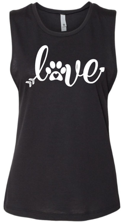 Southern Paws Love Paws Muscle Tee
