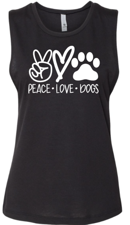 Southern Paws Peace Love & Dogs Muscle Tee