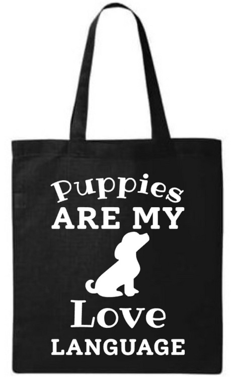 Southern Paws Puppies Are My Love Language Small Tote