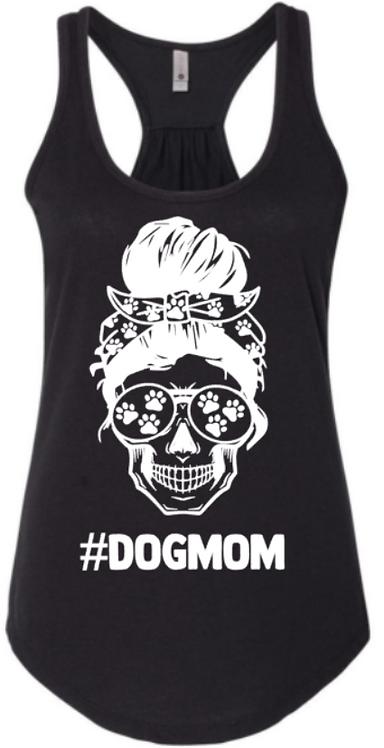 Skull Dog Mom Tank Top