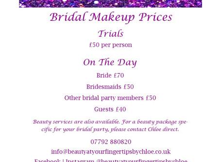 Bridal Makeup Prices