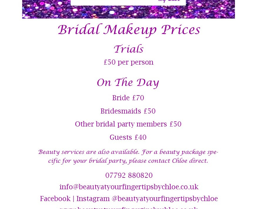 Bridal Makeup Prices