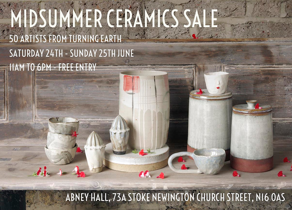 It's the Turning Earth Mid summer sale!!! Looking forward to seeing everyone who can make it. I shall only be there for Saturday 24th selling my wares! Please note that this sale is not at the Turning Earth studio but in Abney Hall on Church Street, Stoke Newington N16.