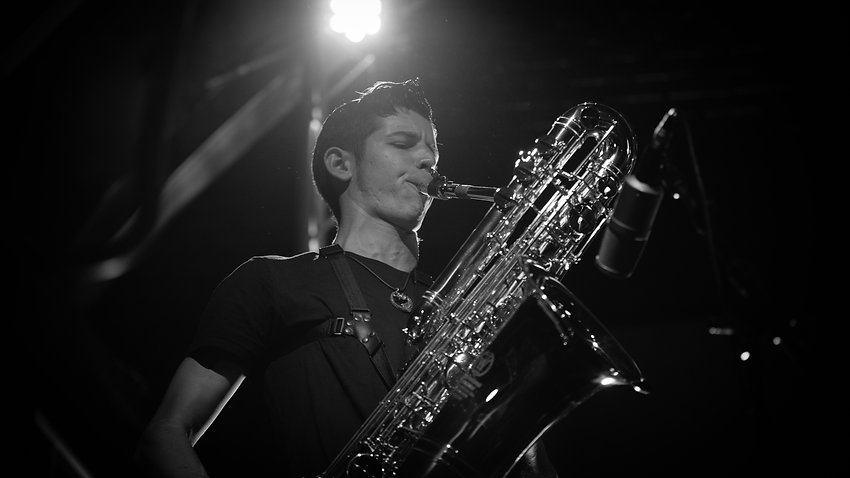 Blaise Garza, Violent Femmes, Horns of Dilemma, bass saxophone, saxophone, sax
