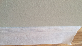 How to tape the baseboard