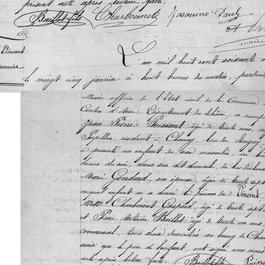 naissance vincent puissant 1869 a Charna