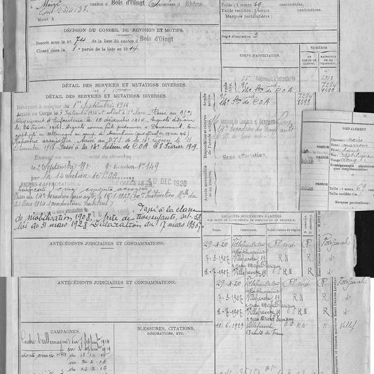 matricule 437 petrus puissant 1914 part