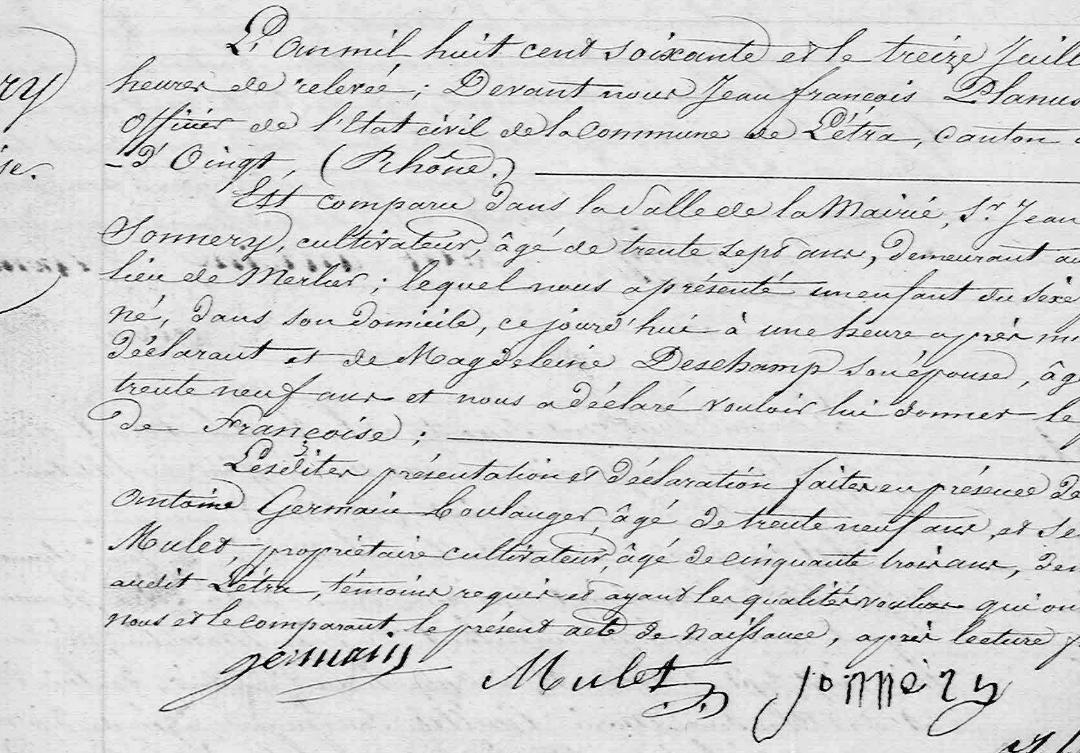 naissance_françoise_sonnery_le13.07.1860