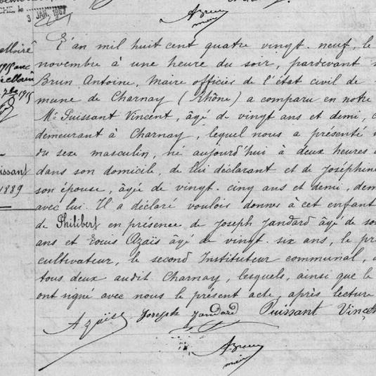 naissance philibert puissant 1889 a Char