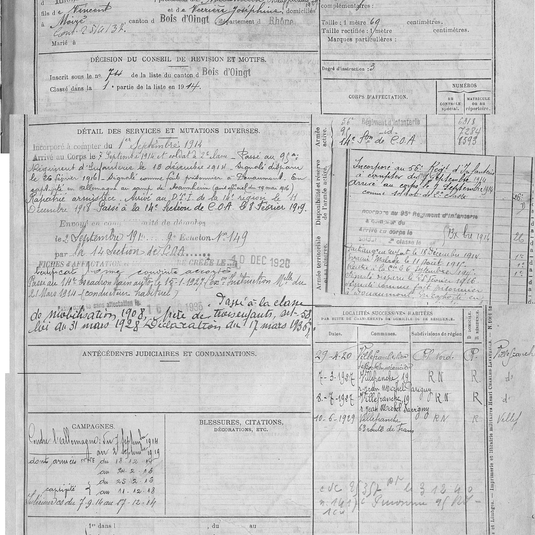 matricule 437 pietrus puissant 1914 part