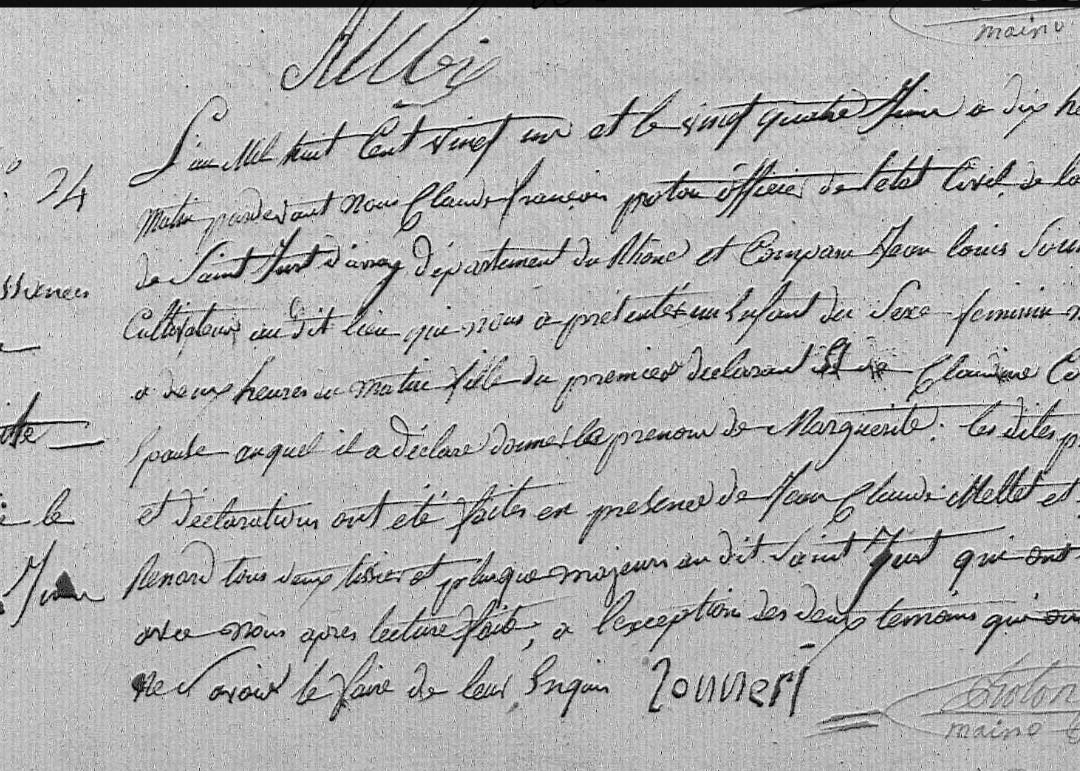naissance marguerite sonnerie 04.06.1821