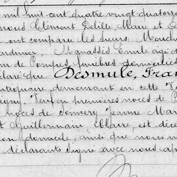 deces Desmule Francois 1894 1er mari de