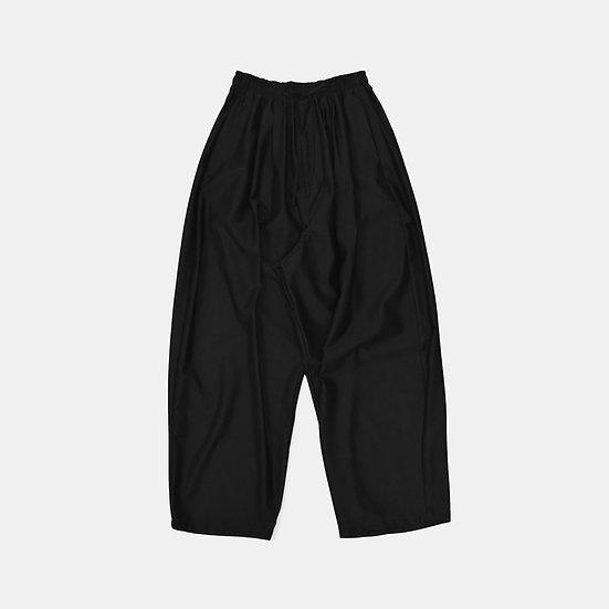 cotton × nylon easy wide pants