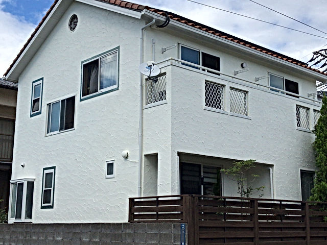 新産住拓の外壁塗装 熊本県熊本市東区 外壁塗装工事 施工後 ペイントデポ