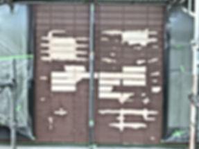 熊本県阿蘇郡高森町 K様邸 外壁(剥離箇所)補修中 【ペイントデポ】